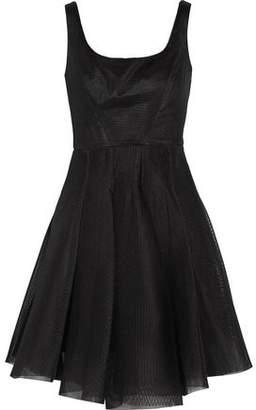 Milly Pleated Mesh Mini Dress
