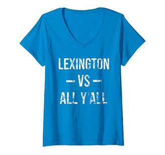 Victoria's Secret Womens Lexington All Y'All Vintage Weathered Southerner V-Neck T-Shirt