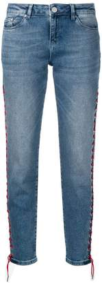Karl Lagerfeld Paris Girlfriend jeans with lacing