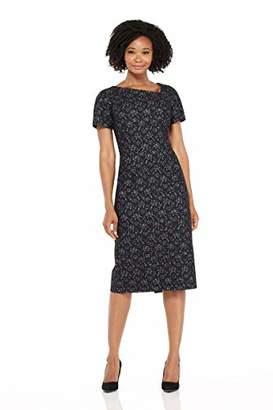 Maggy London Women's Lace Overlay Stripe Jacquard Sheath