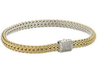 John Hardy Classic Chain Diamond Pave Reversible Bracelet 5mm