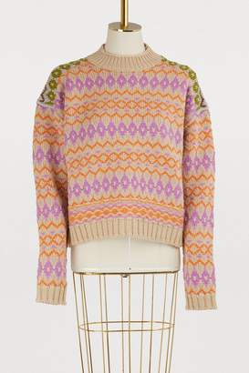 Acne Studios Printed wool sweater