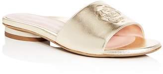 Taryn Rose Women's Dahna Leather Slide Sandals