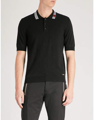 DSQUARED2 Logo-print wool polo shirt