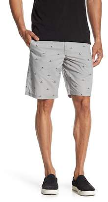 John Varvatos Flat Iron Print Casual Shorts