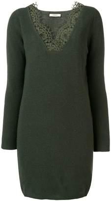 Twin-Set lace trim sweater dress