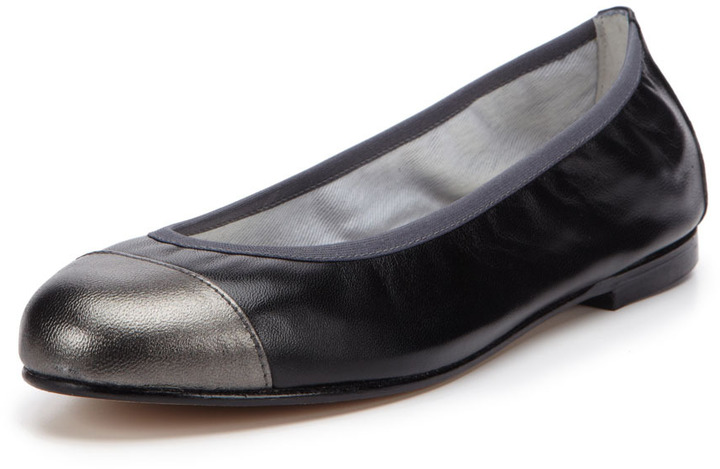 French Sole Rhyme Cap-Toe Ballet Flat