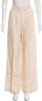 Veronique Branquinho High-Rise Linen-Blend Pants w/ Tags