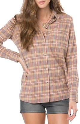 Women's O'Neill Dree Plaid Flannel Shirt $54 thestylecure.com