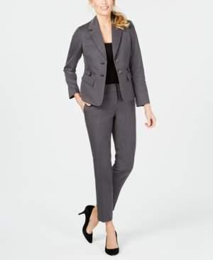 Le Suit Two-Button Twill Pantsuit