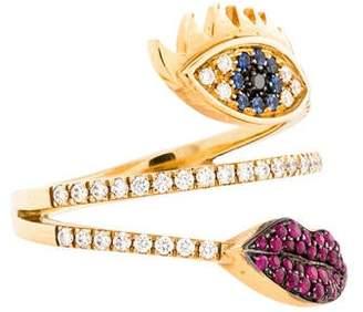Delfina Delettrez Diamond Sapphire & Ruby Marry Me Cocktail Ring