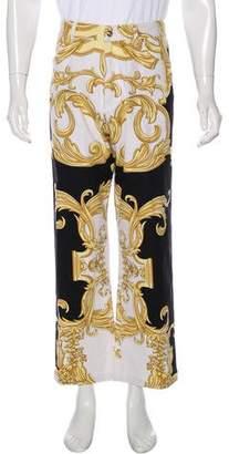 Versace Barocco Straight-Leg Pants