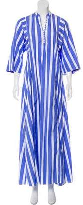 Thierry Colson Striped Maxi Dress