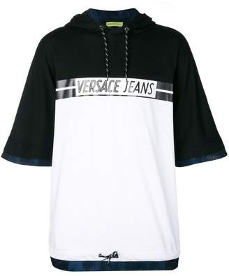 Versace logo print hooded T-shirt
