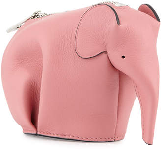 Loewe Leather Elephant Coin Purse, Pink Candy