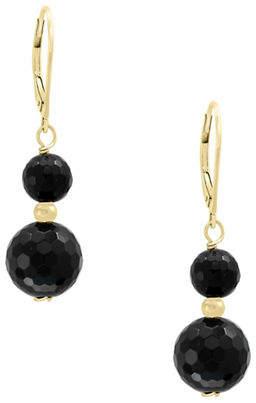 Effy Onyx and 14K Yellow Gold Earrings
