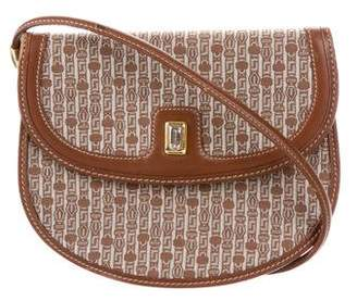 Judith Leiber Leather-Trimmed Crossbody Bag