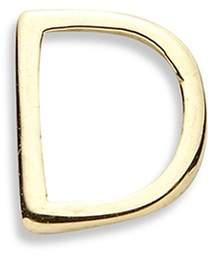 Loquet London 18k yellow gold letter charm - D