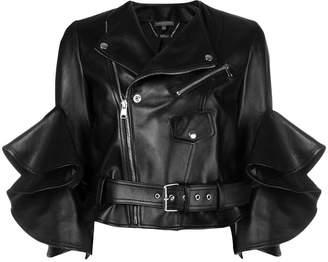 Alexander McQueen flared biker jacket