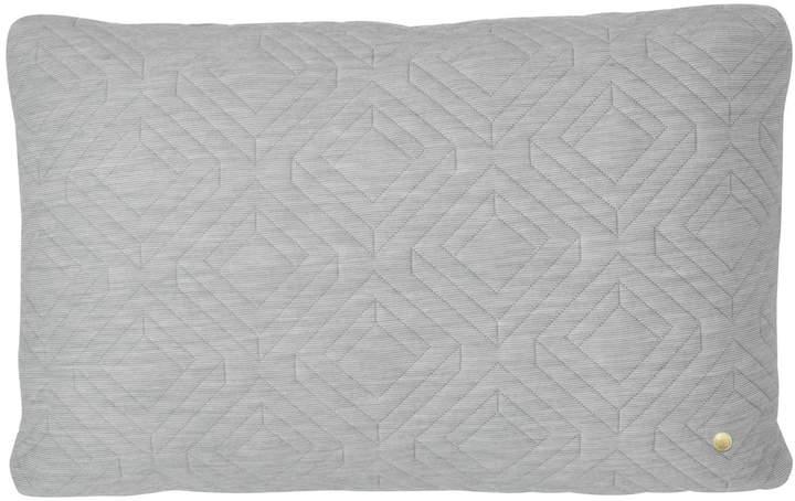 ferm living - Quilt Kissen 60 x 40 cm, Hellgrau