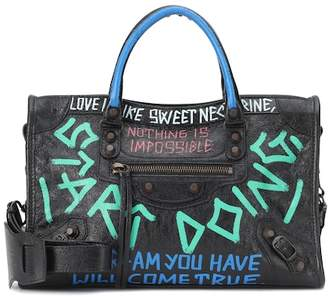 Balenciaga Graffiti City S leather tote