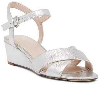 Nine West Lucy Me Metallic Wedge Sandal