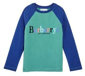 Burberry Unisex Logo Raglan Tee - Little Kid, Big Kid