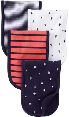 Carter's Burp Cloth - Red/Navy - 4 ct by