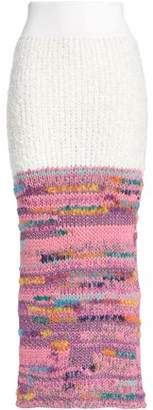 Missoni Metallic-Paneled Crochet-Knit Maxi Skirt