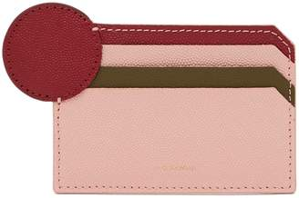 Roksanda Dot tri-colour leather card holder