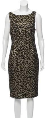 Michael Kors Brocade Midi Dress Black Brocade Midi Dress