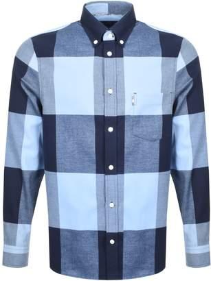 Aquascutum London Long Sleeved Gunn Shirt Blue