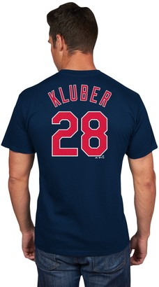 Majestic Men's Cleveland Indians Corey Kluber Player Name and Number Tee