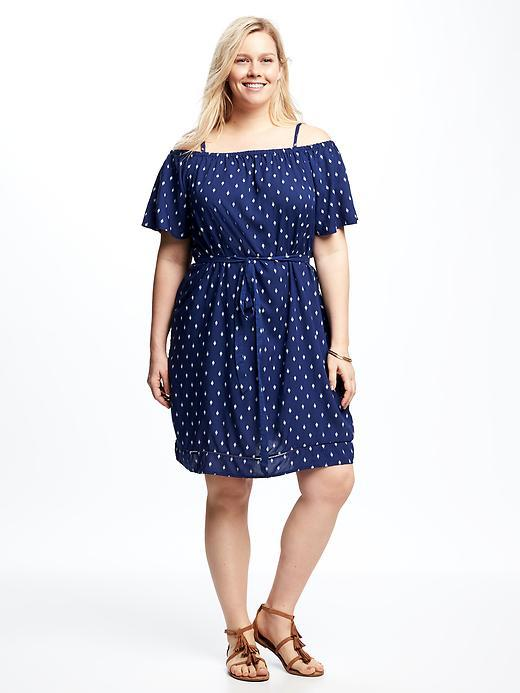 Old NavyOff-the-Shoulder Plus-Size Shift Dress