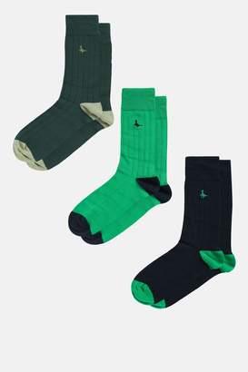 Jack Wills Kingflod 3 Pack Socks