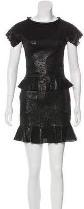 Karl Lagerfeld Metallic Mini Dress