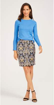 J.Mclaughlin Halle Reversible Skirt in Vintage Brocade