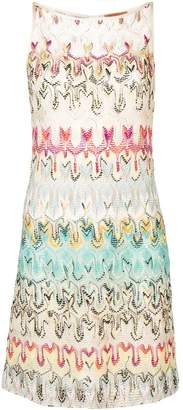 Missoni patterned crochet dress