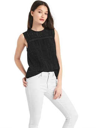 Eyelet lace tank $54.95 thestylecure.com
