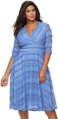 Plus Size Chaya Lace Fit & Flare Dress $128 thestylecure.com