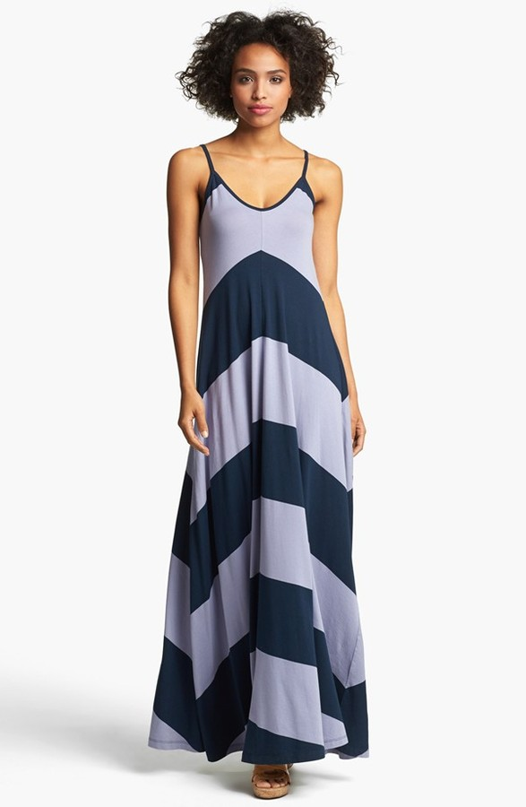 French Connection Chevron Stripe Maxi Dress