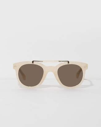 Dries Van Noten Cream Feather Sunglasses