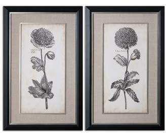Uttermost Singular Beauty Floral by Grace Feyock 2 Piece Painting Print Shadow Box Set
