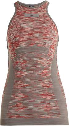 adidas by Stella McCartney Yoga seamless space-dye tank top