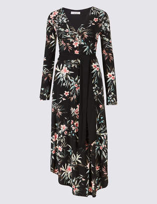 Marks and Spencer Floral Wrap Midi Dress