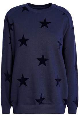 Zoe Karssen Flocked French Cotton-Terry Sweatshirt