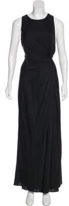 Armani Collezioni Ruched Silk Dress