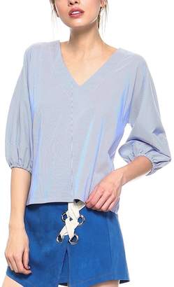 Tcec Striped Tie-Back Top