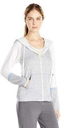 Kensie Women's French Terry Zip Hoodie