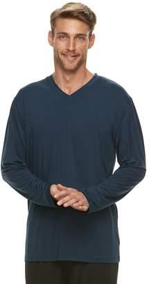 Jockey Men's Sueded Jersey V-Neck Long Sleeve Sleep Shirt